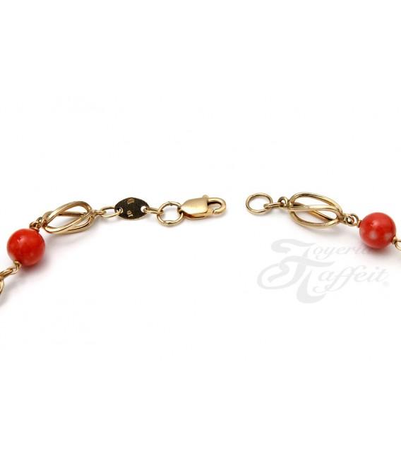 Collar Oro Señora con Coral, fid277