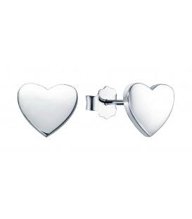 Pendientes en Forma de Corazón de Plata