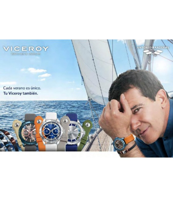 Correa Viceroy 16 mm Antonio Banderas Gris, 301-40958-1