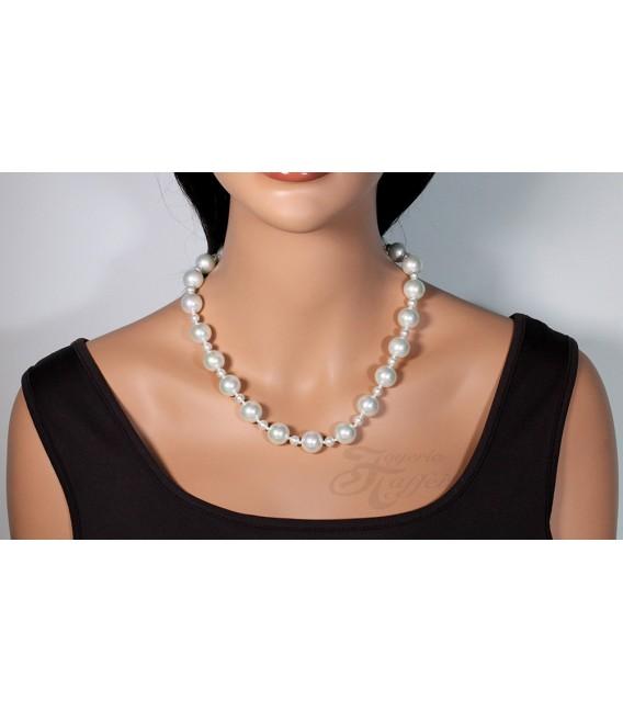 Collar Señora Perlas Orquidea, Blanco, 46009