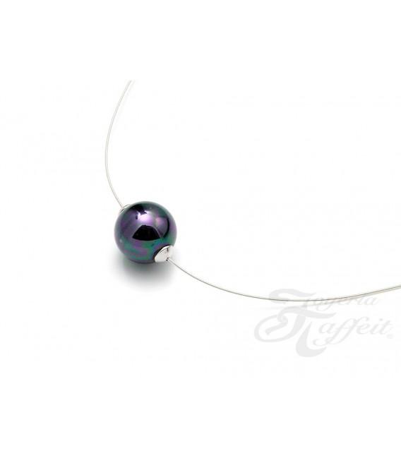 Collar Señora Perlas Orquidea, Negra, 46237NG