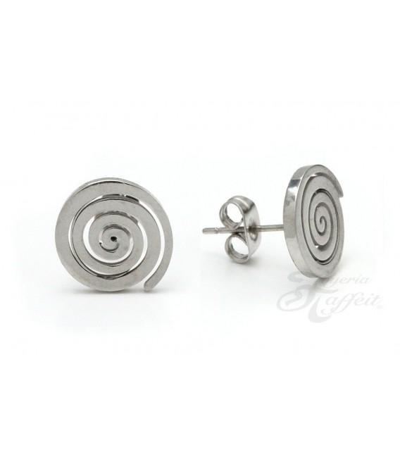 Pendientes de Acero, Espiral, 7577E