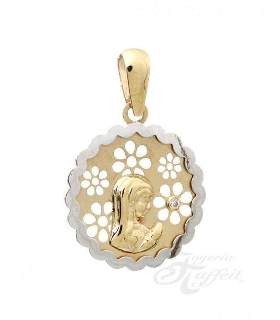 Colgante Oro Bebé, Virgen Niña, 122415