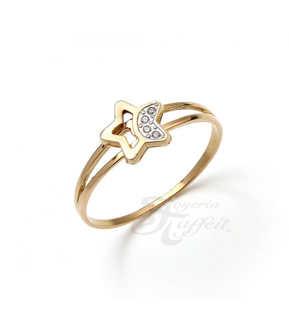 Conjunto Oro Primera Comunión, Estrella Circonitas, 510756