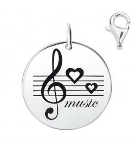 Colgante Dije Plata Música, Silver Diez