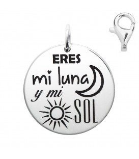 Colgante Dije Plata Eres mi Luna, Silver Diez
