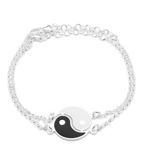 Pulsera Doble Yin Yang en Plata