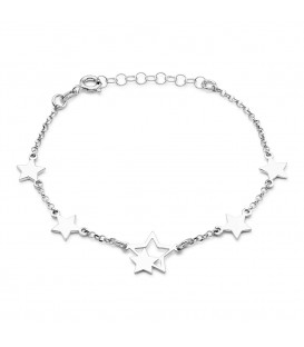 Pulsera Seis Estrellas en Plata