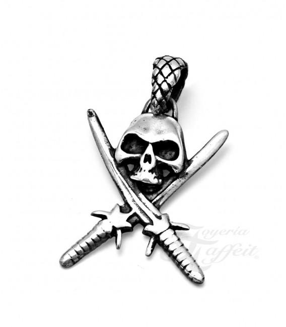 Colgante Calabera Pirata en Plata