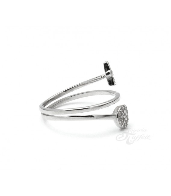 Anillo Triple Cruz Circulo