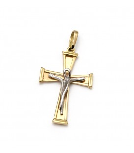 Cruz Oro Bicolor Primera Comunión Niño