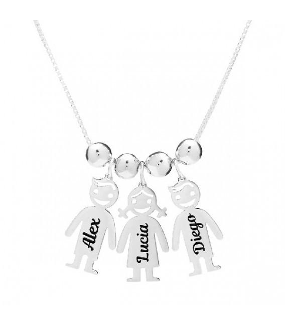 Colgante Personalizado para 3 Niños con Nombres