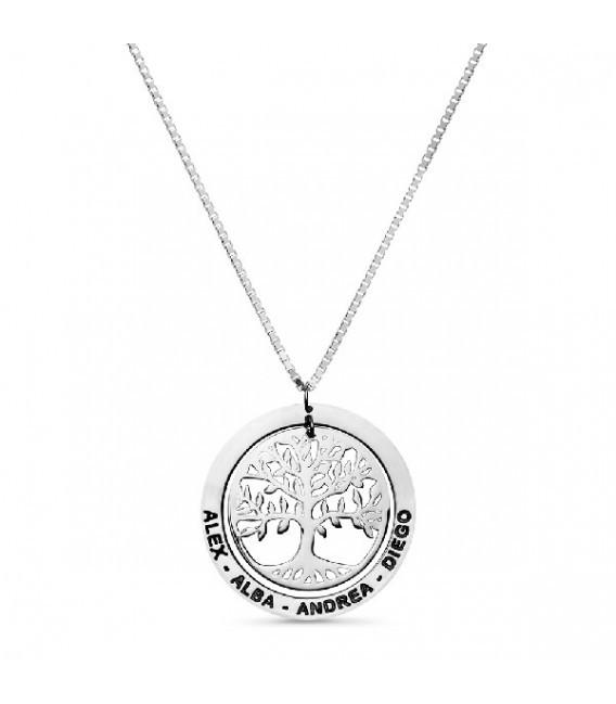 Colgante Árbol de la Vida Personalizado con Nombres