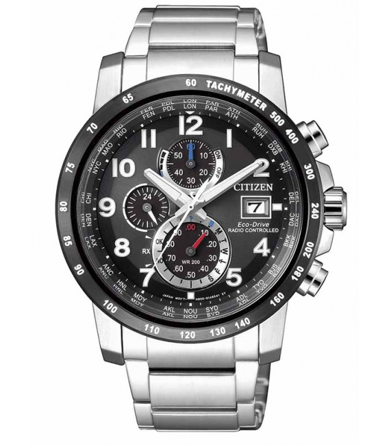 Reloj Citizen Caballero Eco Drive Radiocontrolado H800, AT8124-83E