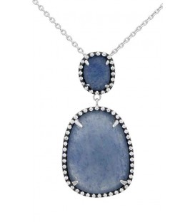Colgante Señora Plata , Piedra Azul LineArgent