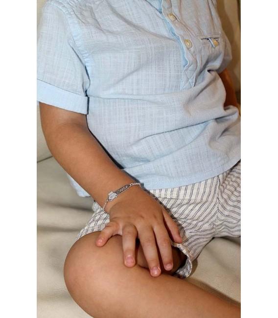 Esclava Plata Bebé, Osito Corazón
