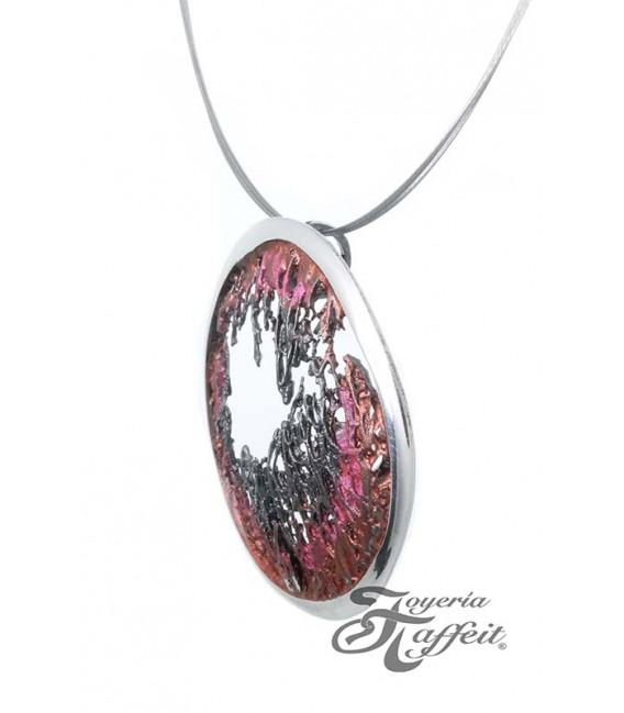 Colgante Plata Simeltech, Pigmento Rosa y Rojo, 0116245P-1
