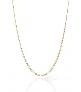 Cadena Barbada de Oro18k , Grosor 1,40 mm