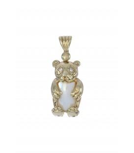 Colgante Señora Oro Circonita y Perla Japonesa, afg105