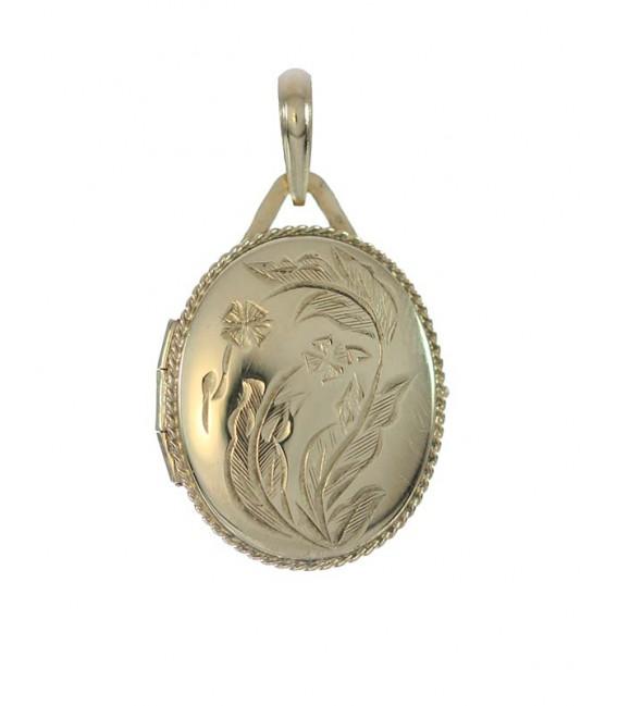 Colgante Oro Señora Guardapelo, akr562