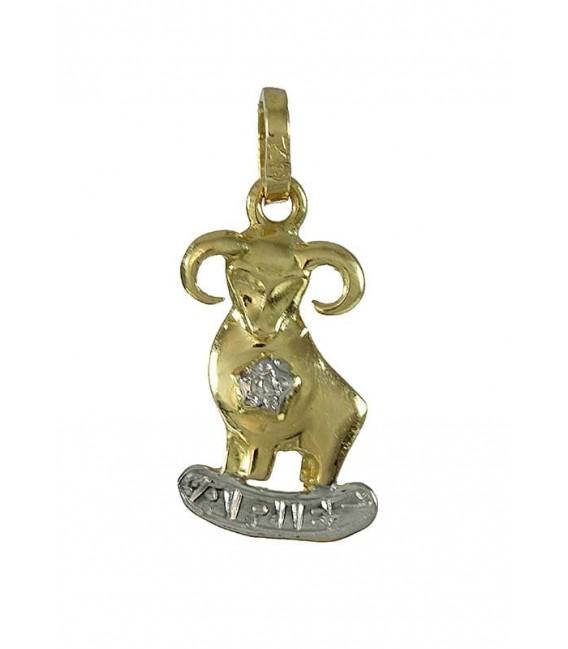Colgante Oro Señora Bicolor Horóscopo Aries, 2ll5