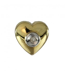 Colgante Oro Señora Diamante Corazón, pas349