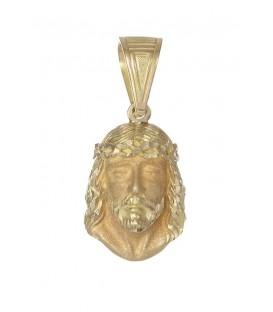 Colgante Oro Caballero Cara Cristo, mrj73