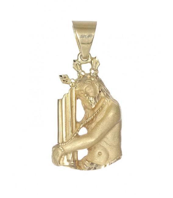 Colgante Oro Caballero Cristo en Columna, mrj147