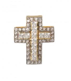 Cruz Oro Señora con Circonitas, cam798