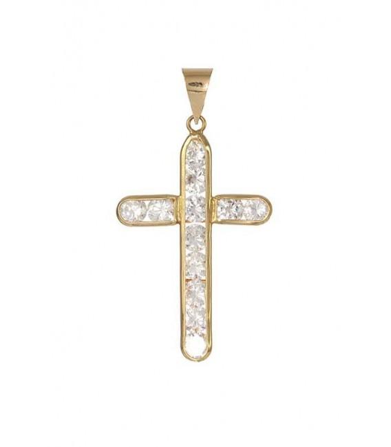 Cruz Oro Señora con Circonitas, cam796