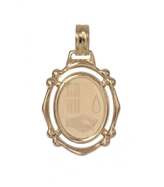 Colgante Oro Señora Chapa RH, rrm12