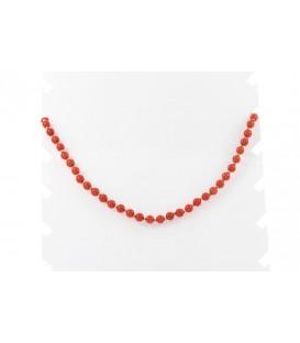 Collar Oro Señora con Coral, mrj62