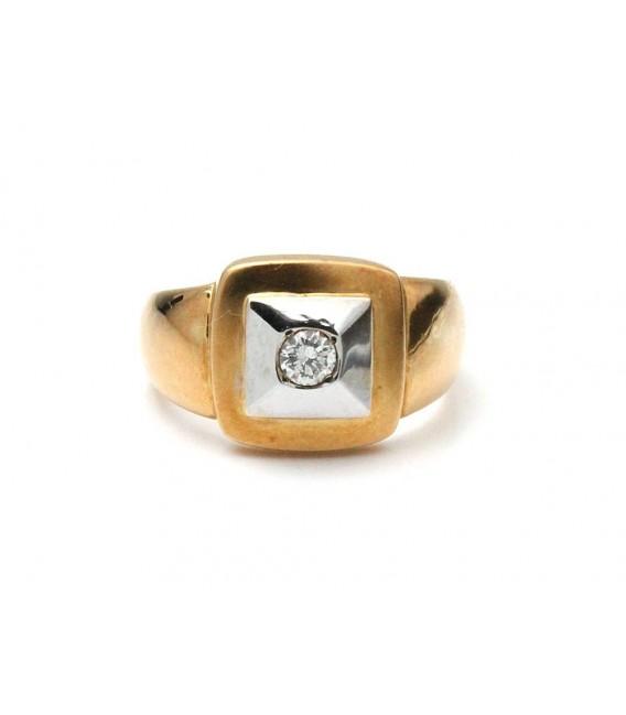 Anillo Oro Señora Bicolor Diamante, sr26