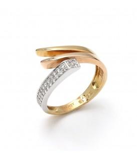 Anillo Oro Señora Bicolor Diamantes, sto11