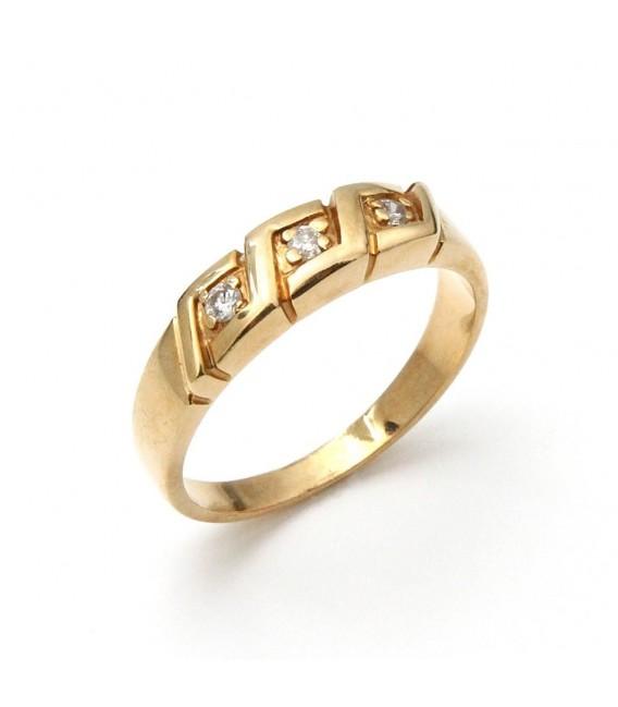 Anillo Oro Señora Diamantes, ped30