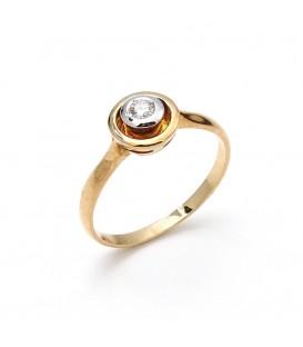 Anillo Oro Señora Bicolor Diamantes, mil4