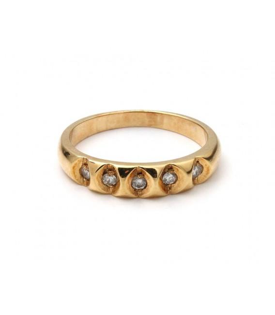 Anillo Oro Señora Diamantes, sr27