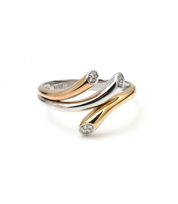 Anillo Oro Señora Bicolor Diamantes, sto9