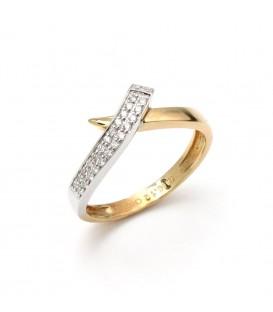 Anillo Oro Señora Bicolor Diamantes, sto13