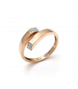 Anillo Oro Rosa Señora Diamantes, sto8