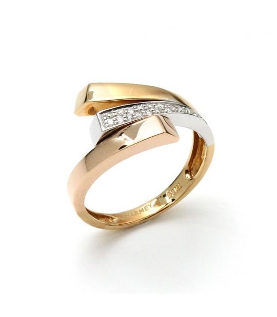Anillo Oro Tricolor Señora Diamantes, sto10