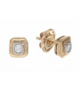 Pendientes Oro Señora Diamantes, mil8