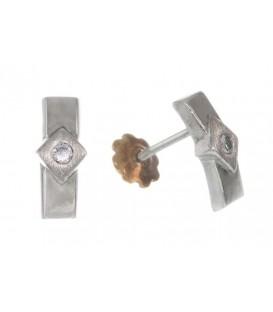 Pendientes Oro Blanco Señora Diamantes, tll56
