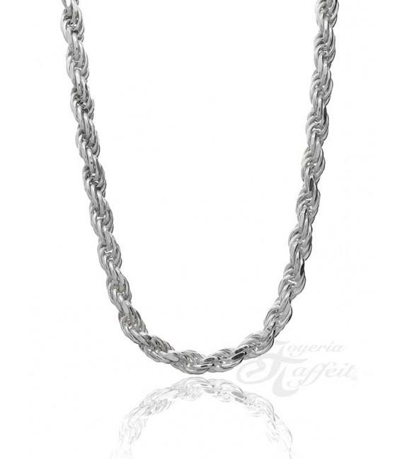 Cadena Cordón Salomónico Plata, Grosor 6 mm