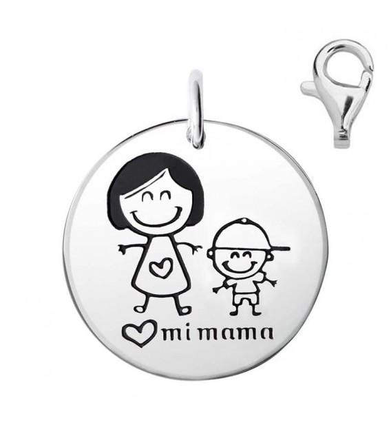 Colgante Dije Plata Mamá y Niño