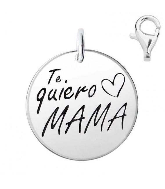 Colgante Dije Plata Te Quiero Mama