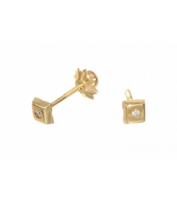 Pendientes Oro Bebe Circonita, AKR1131