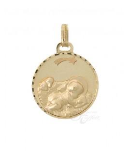 Medalla Oro Bebé, Niño Jesús en el Pesebre, AKR1167