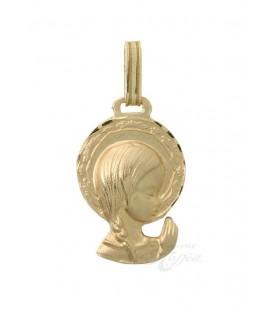 Medalla Oro Bebé, Virgen Niña, AKR1172