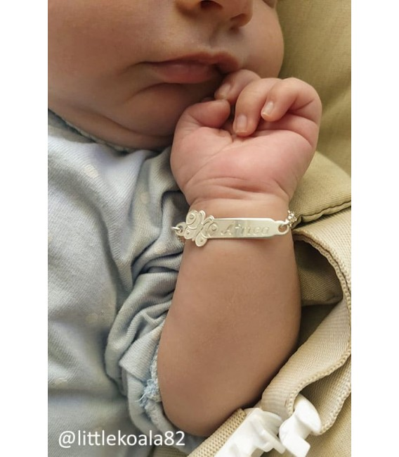 Esclava Mariposa para Bebé en Plata
